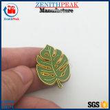 주문 금 또는 구리 도금 금속 잎 모양 접어젖힌 옷깃 Pin