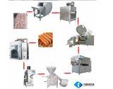 機械またはソーセージメーカーを作るに機械かホットドッグをするソーセージ