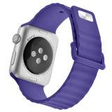 Correa para banda Iwatch, 38mm/42mm Correa de reloj de silicona para Apple Ver silicona Sport