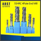高性能55HRC 4fluteのタングステン鋼鉄端製造所のカッター