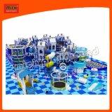 Les enfants Amusement Park Indoor Aire de jeux avec des diapositives en plastique
