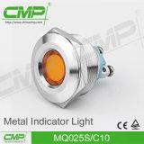 indicatore luminoso di indicatore rosso di Pin di metallo di 25mm e verde terminale
