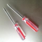 Cacciavite di plastica trasparente della testa della traversa della maniglia di buona qualità