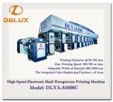 Machine d'impression automatique à grande vitesse de rotogravure avec l'entraînement d'arbre électronique (DLYA-81000C)