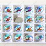 Ab costuras de color en perlas de vidrio para accesorios de prendas de vestir