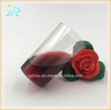 유리제 도매 선전용 입 불어진 플라스틱 받침 달린 컵 위스키