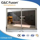 Porte coulissante d'alliage d'aluminium de Fuxuan avec l'obturateur de contrôle électrique
