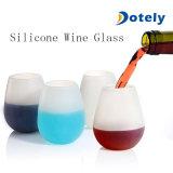 L'eau incassable de vin de bière de silicones met en forme de tasse le verre à vin