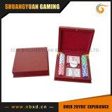 Покер набор микросхем 100 в деревянный ящик