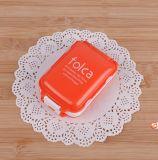 Cassa portatile della pillola di 3 strati della casella settimanale pieghevole della pillola