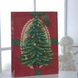 Bolsa de papel roja del modelo del árbol de navidad