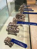 3PC 1000wog Three-Piece Soldadura Bw Válvula de bola de acero inoxidable con el montaje directo de la norma ISO5211 Fabricante fábrica Pad