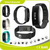 Braccialetto di vigilanza astuto del silicone di salute di Bluetooth di forma fisica con telecomando