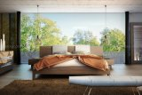 Italien-moderne Schlafzimmer-Möbel hölzernes Sigtuna Bett