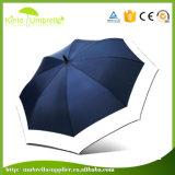 54in 골프 우산을%s 직물 두 배 색깔 백색 섬유유리를 연결하십시오