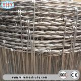 ブタワイヤー動物によって電流を通される編まれた鉄条網