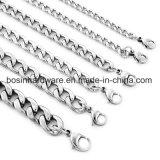 Mens-Edelstahl-kubanische Kandare-Ketten-Halskette