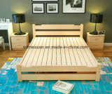 Cama em madeira maciça da cama de casal moderna (M-X2307)