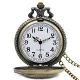 Design 3D pesca caso Quartz relógio de bolso fob