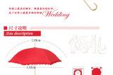 レースの製造者中国が付いている昇進16K結婚式の傘