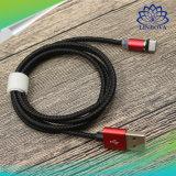 кабель данным по USB быстро металла заряжателя 2.4A Nylon Braided микро- франтовской магнитный поручая для iPhone/Android/Типа-C