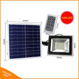 Luz de inundação solar de controle remoto do jardim da luz do ponto de 120 diodos emissores de luz