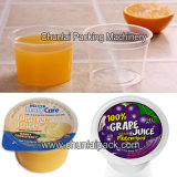 Relleno de la taza del zumo de fruta y máquina automáticos del lacre