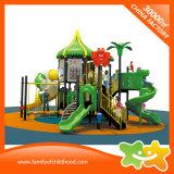 El juguete plástico del equipo del parque de atracciones de la decoración de las flores resbala para los niños