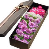 Caixa de empacotamento luxuosa da flor do cartão diferente do projeto