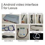 Lexus ES Rx 2009-2011のビデオインターフェイス等のための人間の特徴をもつGPSの航法システムボックス
