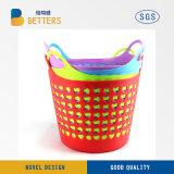 Mayorista de la fábrica de plástico flexible estilo nuevo Servicio de lavandería cesta