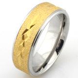 Покрынные золотом кольца установки CNC каменные