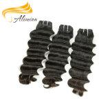 Extensão natural do cabelo do Virgin da cor das extensões reais do cabelo de Remy