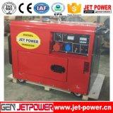 beweglicher luftgekühlter leiser elektrischer Dieselgenerator 6kw
