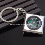 Compás caliente Keychain para los regalos, dimensión de una variable cuadrada del metal del producto de la venta