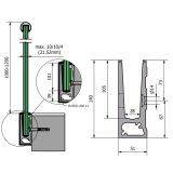 옥외 상업적인 Decking 알루미늄 U 채널 유리제 방책