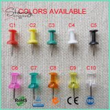 Custom 26mm Jumbo Plastic Clear Head Sweet Bottle Shape Colorful Map Push Pin as Thumb Tacks