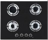 Construido en el tipo 4 estufa de cristal del gas de alto horno de la hornilla, avellanador del gas de 4 anillos para cocinar
