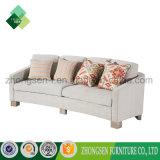 Sofà bianco unico delle sedi del tessuto 3 di stile semplice moderno su ordine professionale della mobilia Zss-888 del salone