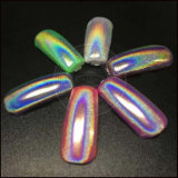 Pigmento de Holo del arco iris usado para el polaco de clavo