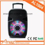 Altavoz portable activo profesional con la luz sin hilos del RGB de la batería de litio de Bluetooth Mic