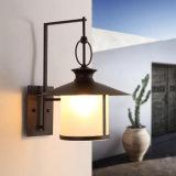 Lumières de lampe de bougeoir de mur de cuisine de cru de Qaulity avec la nuance en verre dans le noir