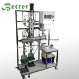 Destilador disponible del camino corto del kit de la cristalería