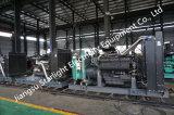 тепловозный генератор 1100kw с трехфазным безщеточным одновременным высоковольтным альтернатором