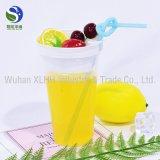 Qualität Wegwerf20oz löschen Haustier-kaltes Getränk-Plastikcup mit Abdeckung-Kappe