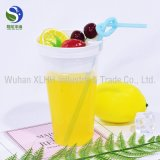 Desechables de alta calidad 20oz claro mascota bebida fría vasos de plástico con tapa tapa