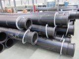 Перетягивание HDPE трубы для навозной жижи и песка
