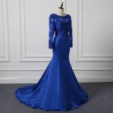 طويلة كم حزب ثوب اللون الأزرق فعليّة حجم مساء ثوب