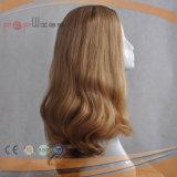 Peruca superior de seda loura bonita do cabelo humano (PPG-l-0458)