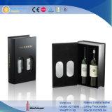 Promotion de l'emballage de luxe deux bouteilles de vin boîte cadeau d'affichage (2176)